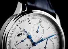 Glashütte Original celebrates the art of the chronograph with a new, modern manufactory calibre. Patek Philippe, Breitling, Rolex, Chronograph, Clock, Watches, The Originals, Accessories, Design