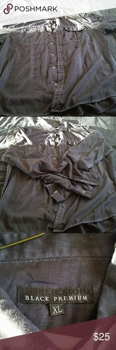 Affliction black premium button-up Up for sale is a Affliction black premium button up, item was worn twice. Nice summer shirt. Affliction Other