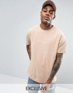 Puma Towelling T-Shirt In Beige Exclusive To ASOS 57533301