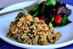 Brown Rice Pilaf with Chickpeas & Spinach