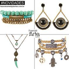 Meninas, tem novidades no site!!!! KITS para Montagem super fáceis de fazer, lindos e com preços INCRÍVEIS!!! Shop Now!!! www.fazendoartebijuterias.com.br