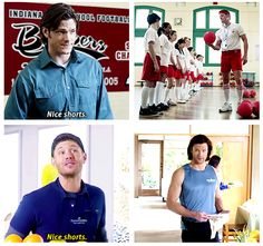 It only took Dean eight years to be able to use that comeback! Supernatural #funny #parallels: Nice shorts, Winchesters ;)