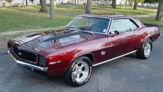 This car is for sale near me.  I am so tempted.  1969 Camaro SS.  What a color.