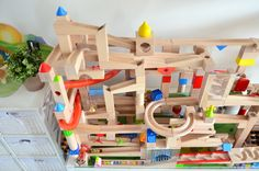 marble run for kids - self made