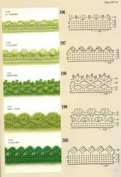 Crochet edging  Well worth looking at.  Some simply beautiful borders.