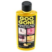 Takes care of all sorts of gooey problem AND gets primer off of your hands and wood stain out of your carpet.  You know, if you are the kind of person who might paint things without gloves in your family room.