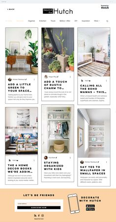 Beyond the Hutch is a modern interior design and lifestyle magazine brought to you by Hutch, the virtual decorator app. Interior Design Magazine, Modern Interior Design, Amazing Websites, Before And After Diy, Kids Wallpaper, Create Website, Home Organization, Projects To Try, Web Design