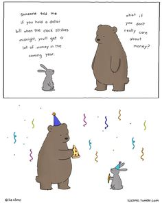 "lizclimo: "" happy new year! may it be a prosperous one (whatever that means to you) xo liz """