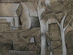 John Craxton - Churchyard 1942