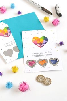 Make give | Scratch-off Valentine for Curbly