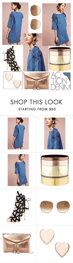 """""""Action Denim"""" by zouus ❤ liked on Polyvore featuring J.O.A., Gemma Redux, Sophia Webster, Chloé, Urban Expressions, Poppy Finch, denim and anthropology"""