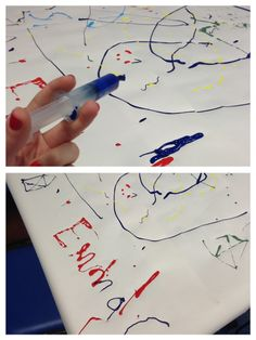 This work of art was made with syringes! Medical play helps kids cope with anxiety associated with medical processes.