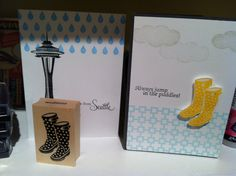 Impress rubber stamps card making