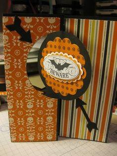Stampin' Up Halloween Bash and Thinlits Circle Card
