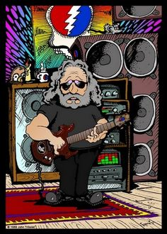 Jerry Garcia Cartoon - by John Tribolet - in 'Designs' on ITookAShot.com