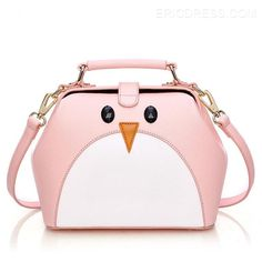 Ericdress Penguin Color Block Handbag Handbags