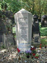 Franz Kafka – Wikipedia Franz Kafka's grave at the new Jewish burial site in Prague.