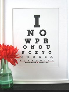 Personalized Wedding Gift  Anniversary Gift / Wedding by Eyecharts, $25.00