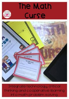 The math curse - a fun way to integrate technology, critical thinking and cooperative learning into your math workshop classroom! Encourage your students to think deeply about math word problems. Only $1