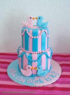 Baby Shower Cake - My Cupcake Addiction - Elise Strachan