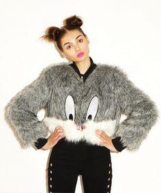 Lazy Oaf   Lazy Oaf x Looney Tunes Whats Up Doc Fur Coat
