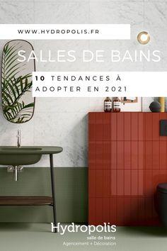 Zoom sur les 10 tendances à suivre en 2021 pour rénover votre salle de bains ! Magazine Deco, Zoom, Decoration, Terracotta, Shower Screen, Trends, Decor, Decorations, Decorating