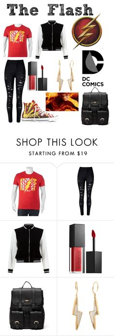 """The Flash"" by gingerbutginforshort ❤ liked on Polyvore featuring Converse, New Look, Smashbox, Sole Society and Marie Hélène de Taillac"