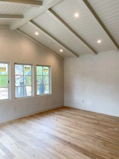 A progress update on Amber Lewis' own home with her favorite brands including Waterworks, Marvin, Duchateau, Portola Paints, the Container Store and more. Room Paint Colors, Wall Colors, Colored Ceiling, Ceiling Color, Painted Pianos, Bathtub Walls, Wood Garage Doors, Fireclay Tile, White Oak Floors
