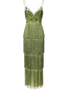 Marchesa Notte embroidered tassel-trimmed gown