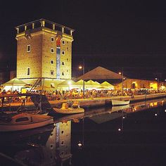 Cervia by night