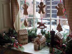 Christmas Window at the Spread Eagle Tavern, Hanoverton, Ohio