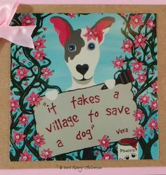 Pet Rescue Card Dog Adoption Card Dog Rescue Card by TheRescueMama