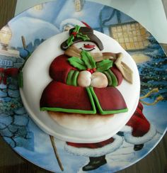 Snowman Cake - Cake by Cláudia Oliveira