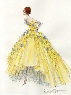 "Robert Best ""Party Dress"" Barbie sketch"