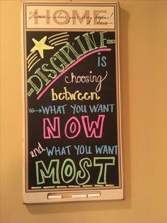 Discipline chalkboard