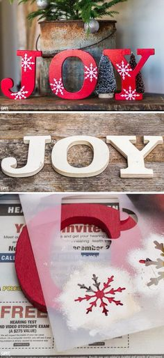 DIY Christmas Joy Sign.