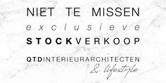 Exclusieve stockverkoop QTD Interieurarchitecten & lifestyle -- Brasschaat -- 27/08