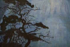 "Detail of ""Winter Night in the Mountains"" (Vinternatt i Rondane ..."