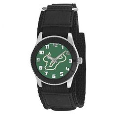 South Florida Bulls Rookie Series Youth/Kids Watch Officially Licensed Team logo Stainless Steel Back Adjustable Velcro Strap Designed for Younger women/girls - Maximum wrist size: 6'' Quartz Accuracy