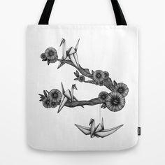 #Origami #Birds Tote #Bag by Sara Elan Donati - $22.00 | Society6 #Society6 #bag #illustration