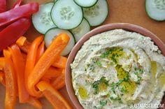 Roasted Garlic Hummus Recipe