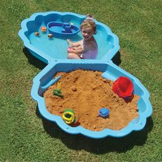 Because every kid needs a wading pool/sandbox when they're little.  Blue shells.