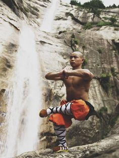 Kung Fu. Practicing balance builds strength of mind & body