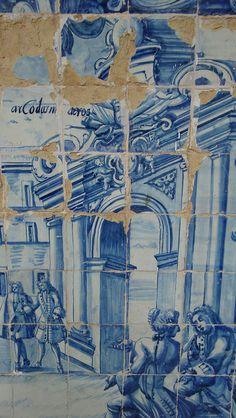 Bahia, Brasil by Alexsandra Bentemuller, via Flickr Delft Tiles, Mosaic Tiles, Antique Tiles, Portuguese Tiles, Mosaic Designs, Decorative Tile, Tile Art, Salvador, Art Museum