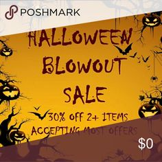 NOW TIL OCT 31ST!!! PLS SHARE!!! PLEASE SHARE!!!!!  I need to declutter BIG TIME.  ~Enjoy 30% off 2+ items ~Make an offer UNLESS marked as ?FINAL PRICE? ***Please be respectful with offers. I.e. don't make a $5 offer for an item listed as $40***  I will slowly be adding more items for this sale.  HAPPY SHOPPING!!! ?? Jeans