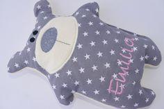 Kissen - Bär ♥ Sterne ♥ Wunschname ♥ Teddy - ein Designerstück von von-Eulen-und-Lerchen bei DaWanda