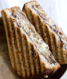 Black & White Panini   (with olive tapanade, horseradish spread, & vegan cheeze)