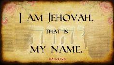 gods name jehovah