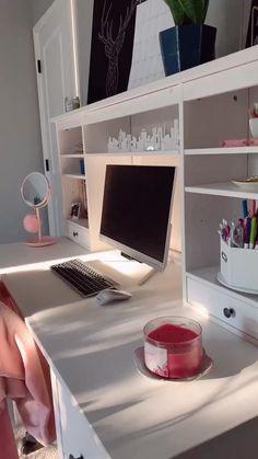 Study Room Decor, Cute Room Decor, Room Ideas Bedroom, Bedroom Decor, Pinterest Room Decor, Aesthetic Room Decor, Dream Rooms, School, Random