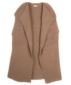 Ribbed Baby Alpaca Sweater Vest | Long Sleeveless Sweater Vest | Handmade by Peruvian Artisans | Sustainable Luxury Fashion